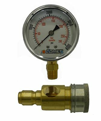 "4,000 PSI 2.5"" Pressure Gauge Test Kit with QC's"