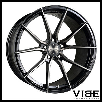 20 Vertini Rf1 2 Forged Black Concave Wheels Rims Fits Cadillac Cts
