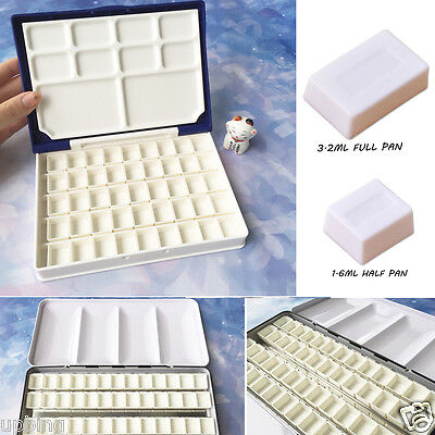10/20/30/40pcs Water Colour Empty Pan Full Half Pans For Watercolour Painting