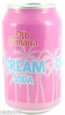 24 x Old Jamaica Cream Soda Can Fizzy Soft Drinks