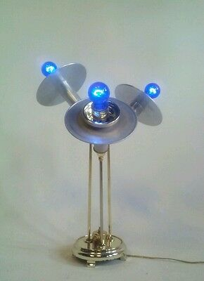 VINTAGE DANISH ATOMIC UFO SPACE TABLE LAMP 3 WAY LIGHT FIXTURE SPUTNIK ROBOT 60s