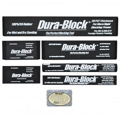 Dura-Block sanding block kit 7 piece AF44L car restoration panel beating tool