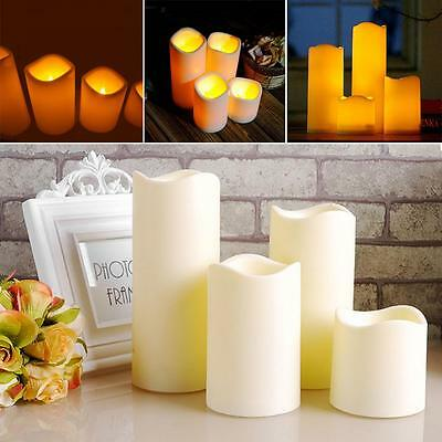 10cm x 7.5cm Cylindrical Flickering LED Candle Light Flameless Christmas Lamp