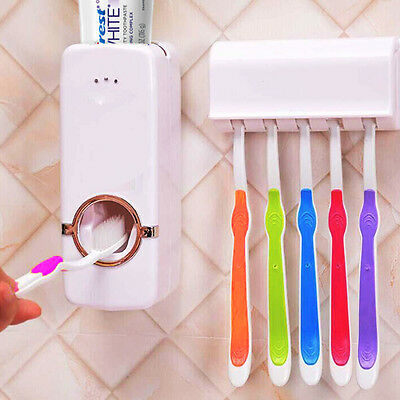 Automatique Dentifrice Distributeur Porte Brosse À Dent Set Support Mural