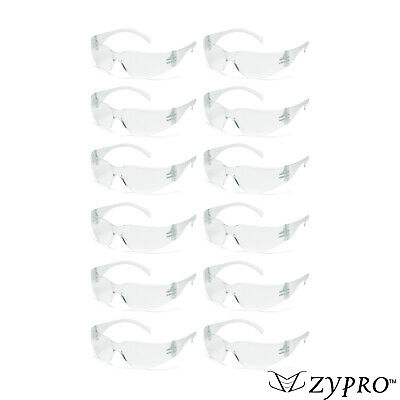 Safety Glasses Clear Lens  Eyewear Work Sports ANSI Z87+ 12 PAIR PACK