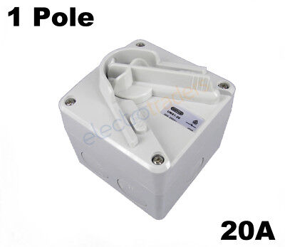 GEN3 20 Amp Single Phase Single Pole Ultra Mini Isolator Switch IP66