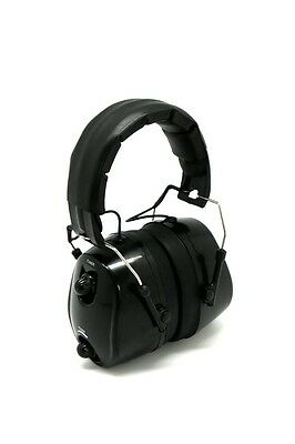 FM Radio Ear Protector Ear Muffs Hearing Noise Black