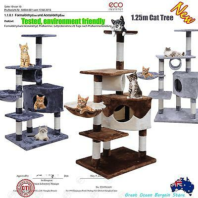 Cat Post Scratching Pole Multi Level Climbing Cat Tree 1.25m Free Metro Delivery
