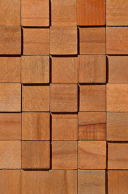 SET Stegu Wandpaneele Echt Holz Dekorplatten Verkleidung CUBE 1 Wood Collection