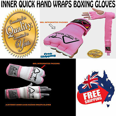 Austodex Ladies women Fist Gel Bandages MMA boxing Inner Quick Hand Wraps Gloves
