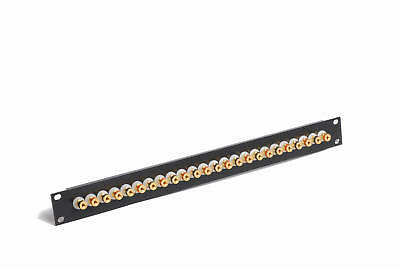 "19"" 1U Speaker Patch Panel 24 x 4mm Binding Posts"