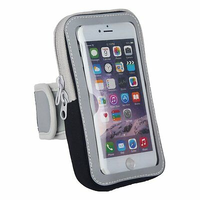 "Fitness Workout Mobile Phone 5.5"" Armband Storage Pocket Pouch Water Resistant"