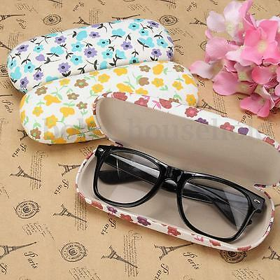 Hard Floral Storage Spectacles Eye Glasses Case Sunglasses Box Holder Protector