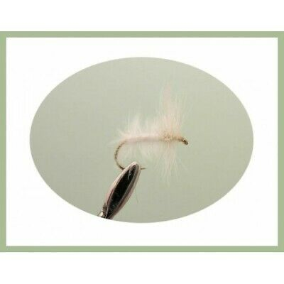 12 White Moth Dry Trout Flies  Mixed Size 12/14/16 - For Fly Fishing