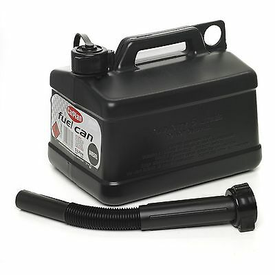 NEW Carplan Plastic Jerry Can With Spout Diesel Colour Coded Black 5 Litres