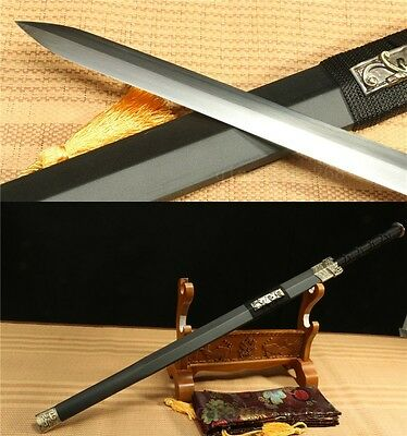 "42"" Black Saya 1060 Carbon Steel With Out  Bo-Hi  Sharp Chinese Han Sword 汉剑"