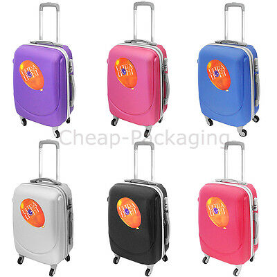 Suitcase Travel Luggage Cabin Trolley Lightweight 4 Wheels With Lock Hard Shell