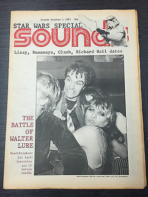 Sounds Magazine feat Heartbreakers October 1, 1977