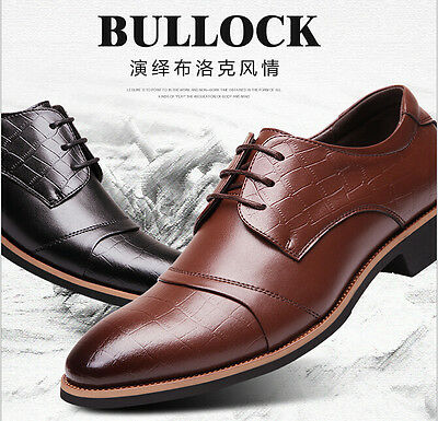 Men's Dress/Formal/Casual Flat Shoes Lace Up Leather Office Shoes
