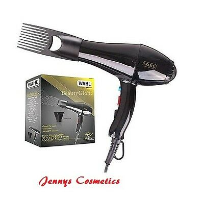 Wahl Afro Power Pik 5000 Pro Hair Dryer Salon Professional Styling Nozel