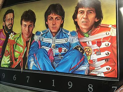 Rare Beatles 1987 Poster Mint Signed By Mark Cappeletti