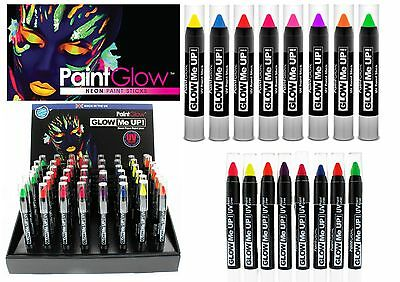 BRAND NEW Paintglow UV Neon Glow Me Up Face and Body Paint Sticks
