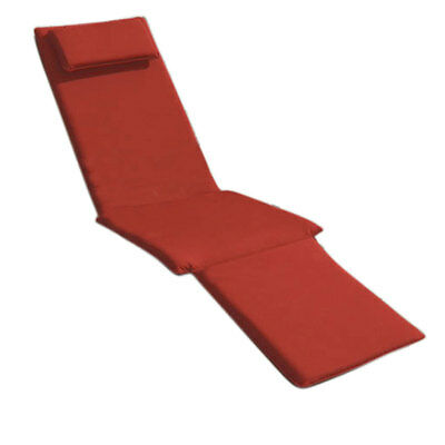 Trueshopping Ruby Red Cushion for adjustable Steamer Lounger