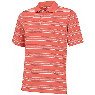 Adidas Puremotion Polo Golf Textured Coral Stripe Men's Large XL MSRP $65 New