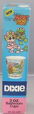 1985 Muppet Babies Dixie Cups, NRFB - New, sealed!