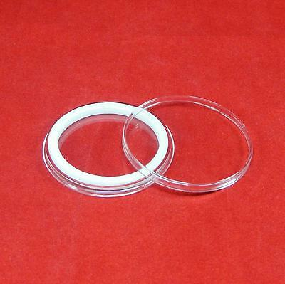 50 Airtite Coin Capsule Holders w WHITE Rings For Morgan Peace /& Ike Dollars