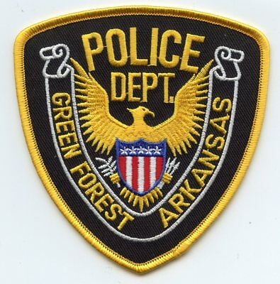 Green Forest Arkansas Ar Police Patch