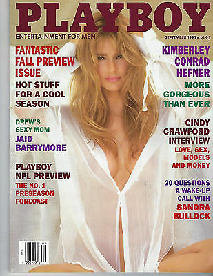 September 1995 Playboy Magazine Featuring Kimberley Conrad Hefner On The Cover