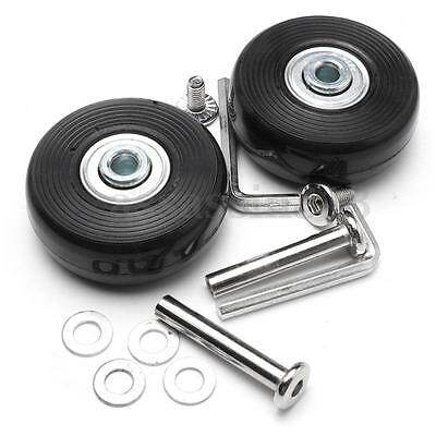 2 Set OD 46mm Luggage Wheels Suitcase Replacement Axles Deluxe Repair