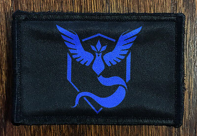 Pokemon Team MYSTIC Morale Patch Tactical Military USA Hook Badge Army Flag