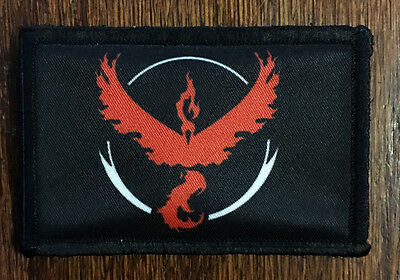 Pokemon Team VALOR Morale Patch Tactical Military USA Hook Badge Army Flag