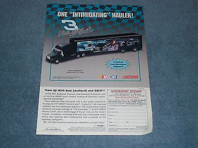 "2003 Dale Earnhardt Goodwrench Oreo Die-Cast Hauler ""One Intimidating Hauler!"""