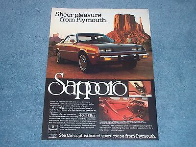 Diagram 1980 Plymouth Sapporo Classic Vintage Advertisement Ad D23
