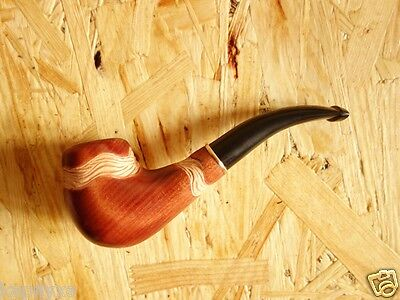 BREEZE New Authors Hand Carved Tobacco Smoking Pipe, 9 mm Filter, Wild Pear Wood