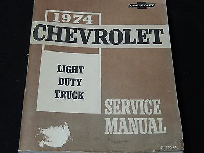 Used Service Manual for 1974 Chevrolet Light Duty Truck