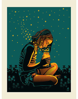 Dave Matthews Band Art Poster Print Bristow VA Fireflies Signed & Numbered #200