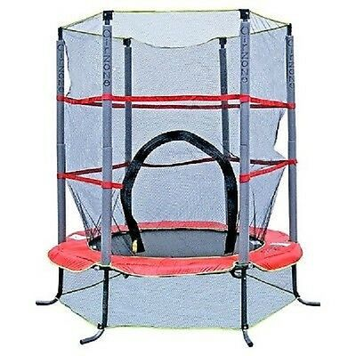 "Airzone 55"" Trampoline for Kids w Enclosure and Handrail ~ New In Box"