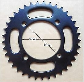 420 Sprocket 41 Tooth 76mm Centre 92mm Bolt hole measured Diagonally Across