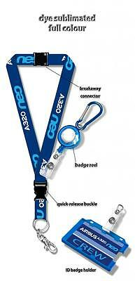 Airbus A320 NEO Dye Sublimation Lanyard SET