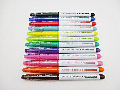 PILOT FRIXION COLORS erasable highlight marker pens (made in JAPAN)