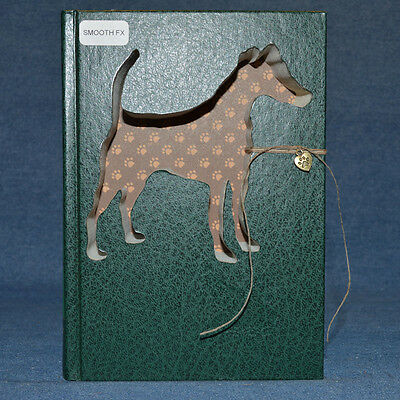Smooth Fox Terrier Upcycled Book - 002