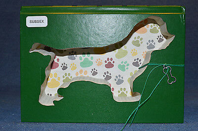 Sussex Spaniel Upcycled Book - 001