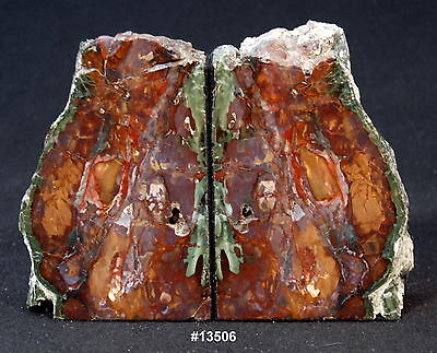 """""""Purple Cow"""" Jasper Bookends 9"""" wide, x 6 5/8"""" tall, x1 3/4"""" thick, 7.6 pounds."""