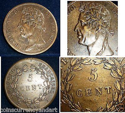 French Colonies 5 Centimes . KM# 10.1 . HIGH GRADE
