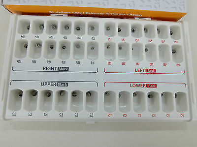 DENTAL PRIMARY ANTERIOR 36CROWNS KIT (Central, Lateral Incisor, Cuspid) FDA, CE