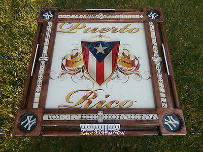 Domino Tables By Art With Puerto Rican Pride Personalized